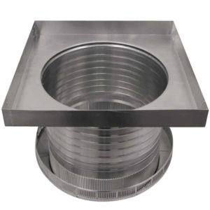 Roof Louver for Air Intake - Pop Vent with Curb Mount Flange PV-16-C12-CMF-13