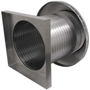Roof Louver for Air Intake - Pop Vent with Curb Mount Flange PV-16-C12-CMF-7