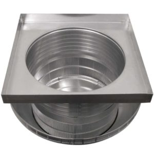 Roof Louver for Air Intake - Pop Vent with Curb Mount Flange PV-18-C06-CMF-upsidedown-2