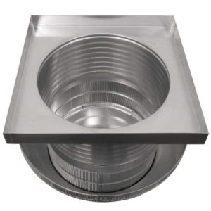 Roof Louver for Air Intake - Pop Vent with Curb Mount Flange PV-18-C08-CMF-upsidedown-2