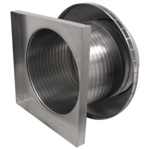 Roof Louver for Air Intake - Pop Vent with Curb Mount Flange PV-18-C12-CMF-3