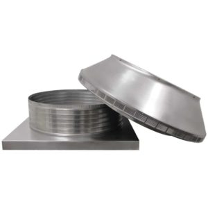 Roof Louver for Air Intake - Pop Vent with Curb Mount Flange PV-24-C06-CMF-6
