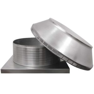 Roof Louver for Air Intake - Pop Vent with Curb Mount Flange PV-24-C08-CMF-6
