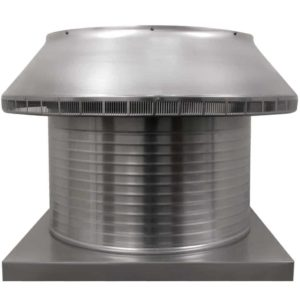 Roof Louver for Air Intake - Pop Vent with Curb Mount Flange PV-24-C12-CMF-1