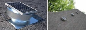 Round Back Solar Attic Fan RBSF-8-C2-Close-Up-and-Installed