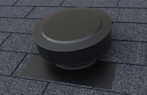 Static Vent Round Back Vent on Asphalt Shingle Roof