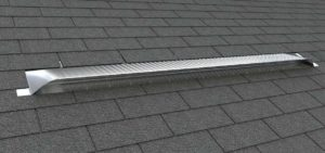 Static Off Ridge Roof Vents UV-105 - Aluminum Low Profile Universal Vent (Dormer Vent) on Shingle Roof