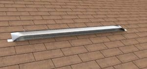 Static Off Ridge Roof Vents - UV-105 Aluminum Low Profile Universal Vent (Dormer Vent) on Shingle Roof