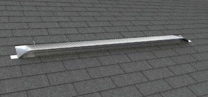 Static Off Ridge Roof Vents - Aluminum Low Profile Universal Vent (Dormer Vent) on Shingle Roof