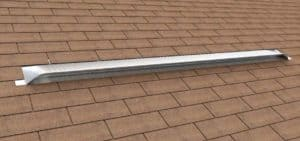 Static Off Ridge Roof Vents - UV-135 Aluminum Low Profile Universal Vent (Dormer Vent) on Shingle Roof