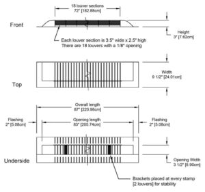Dormer Vent - Universal Vent UV-135-specs-preview