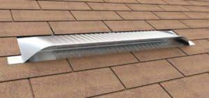 Static Off Ridge Roof Vents - UV-45 Aluminum Low Profile Universal Vent (Dormer Vent) on Shingle Roof