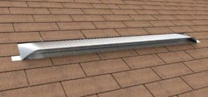 Static Off Ridge Roof Vents - UV-90 Aluminum Low Profile Universal Vent (Dormer Vent) on Shingle Roof