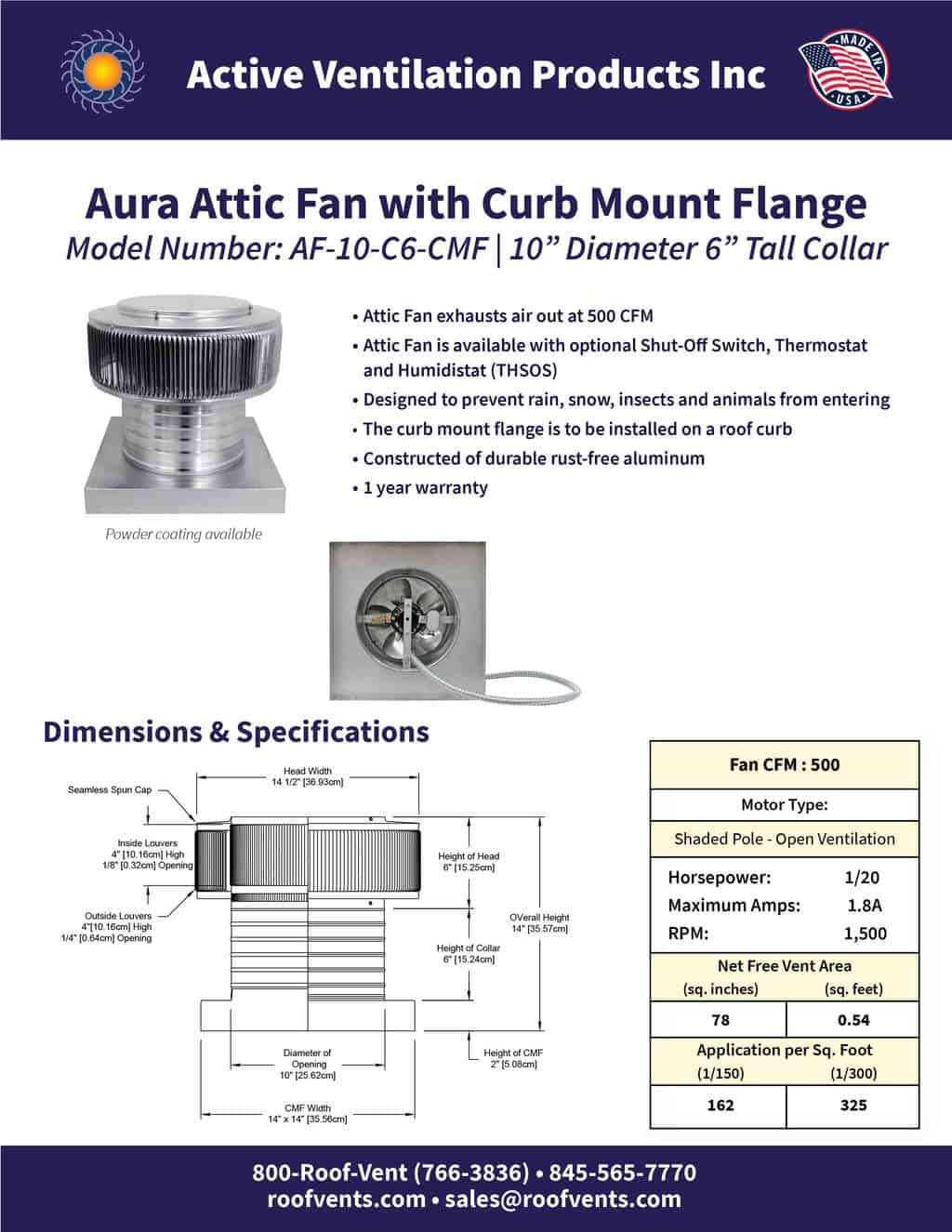 AF-10-C6-CMF-brochure An Exhaust Attic Fan