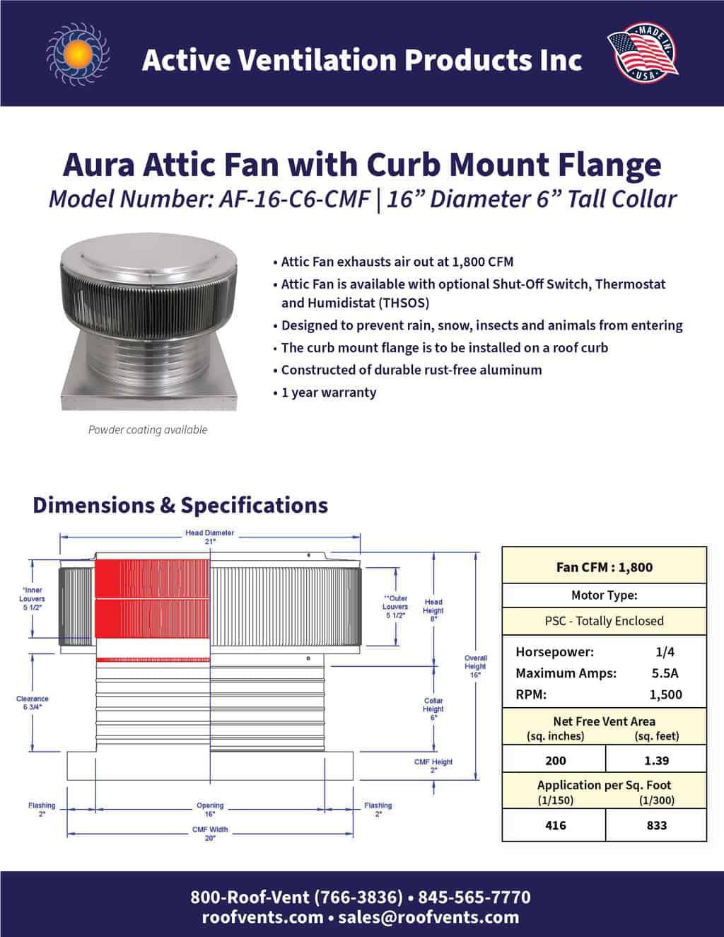 AF-16-C6-CMF-brochure An Exhaust Attic Fan