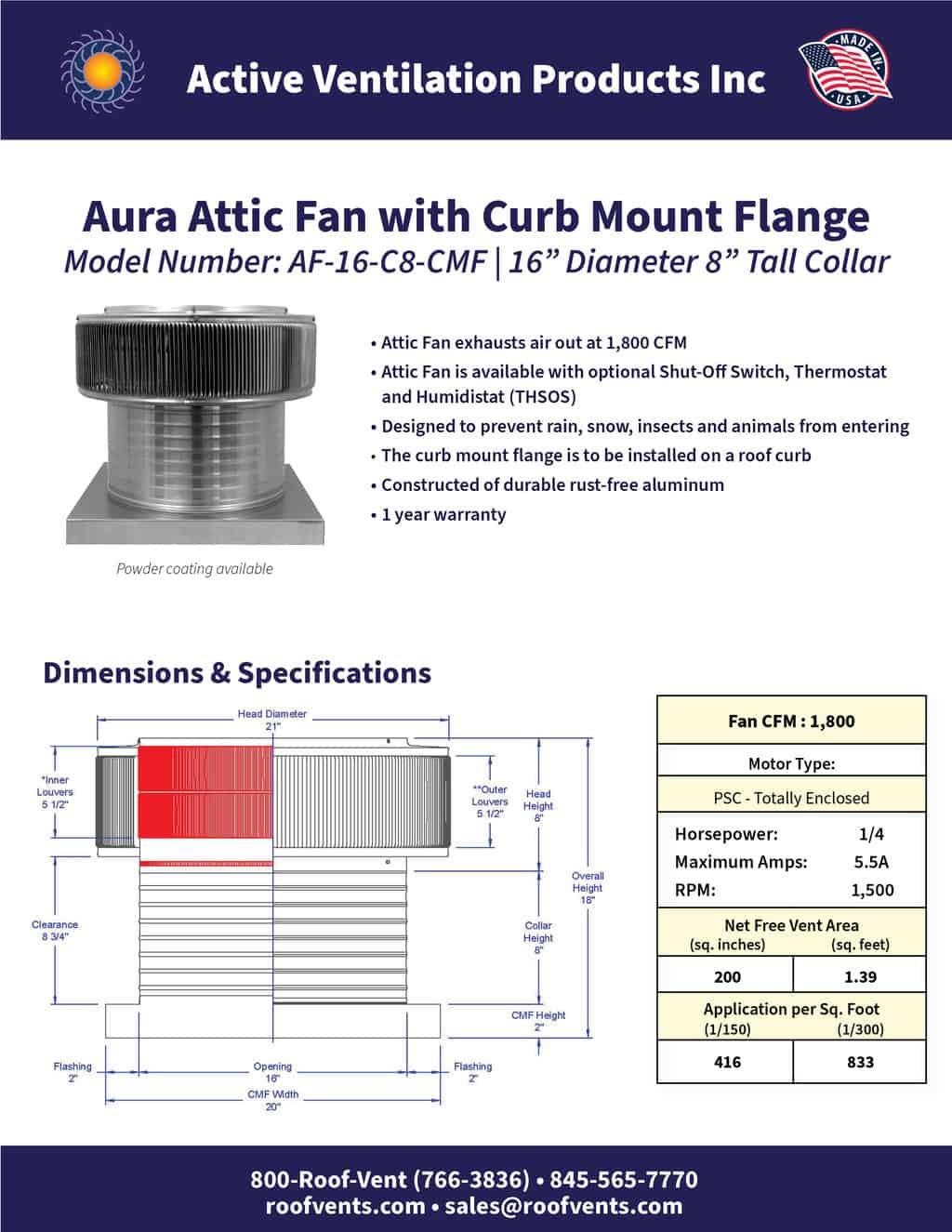 AF-16-C8-CMF-brochure An Exhaust Attic Fan