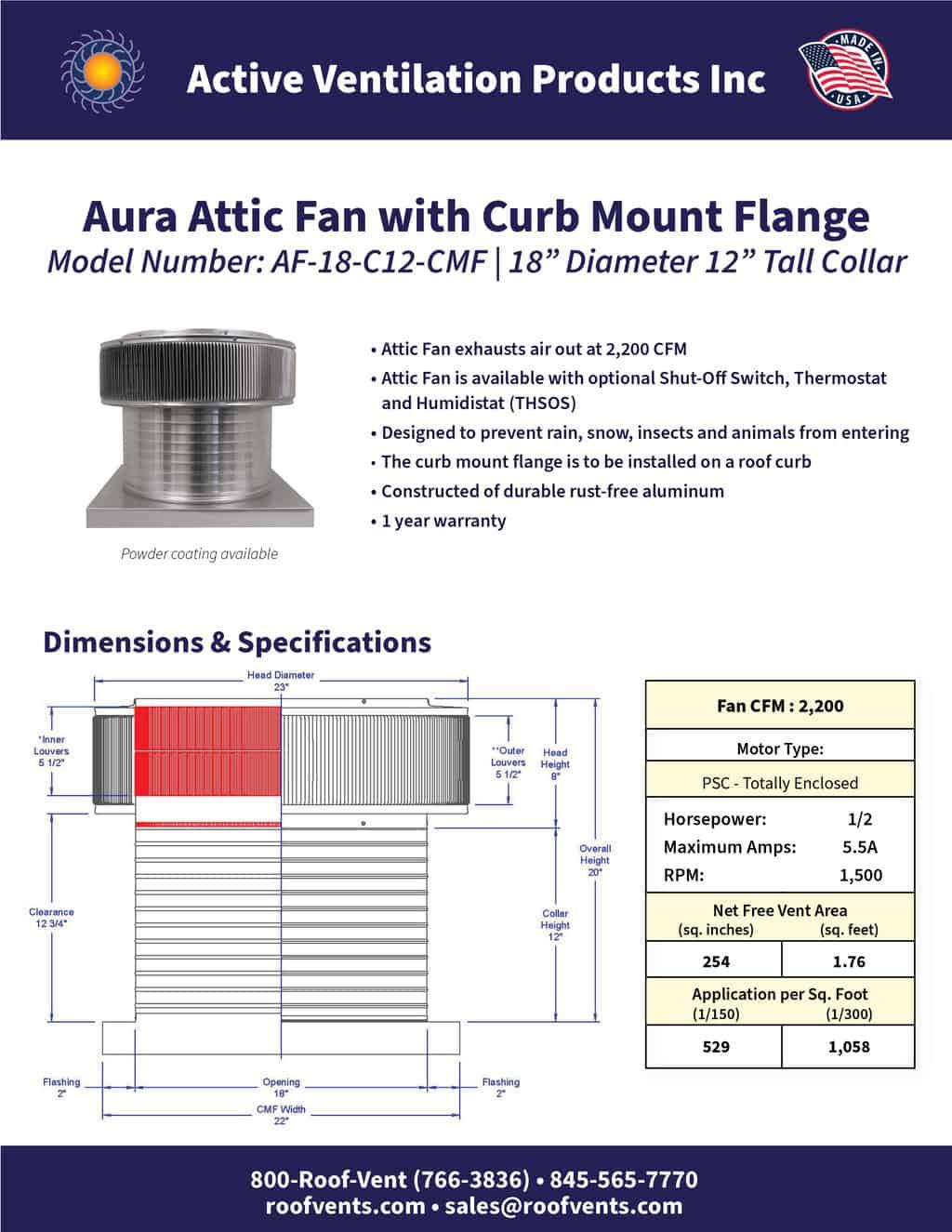 AF-18-C12-CMF-brochure An Exhaust Attic Fan