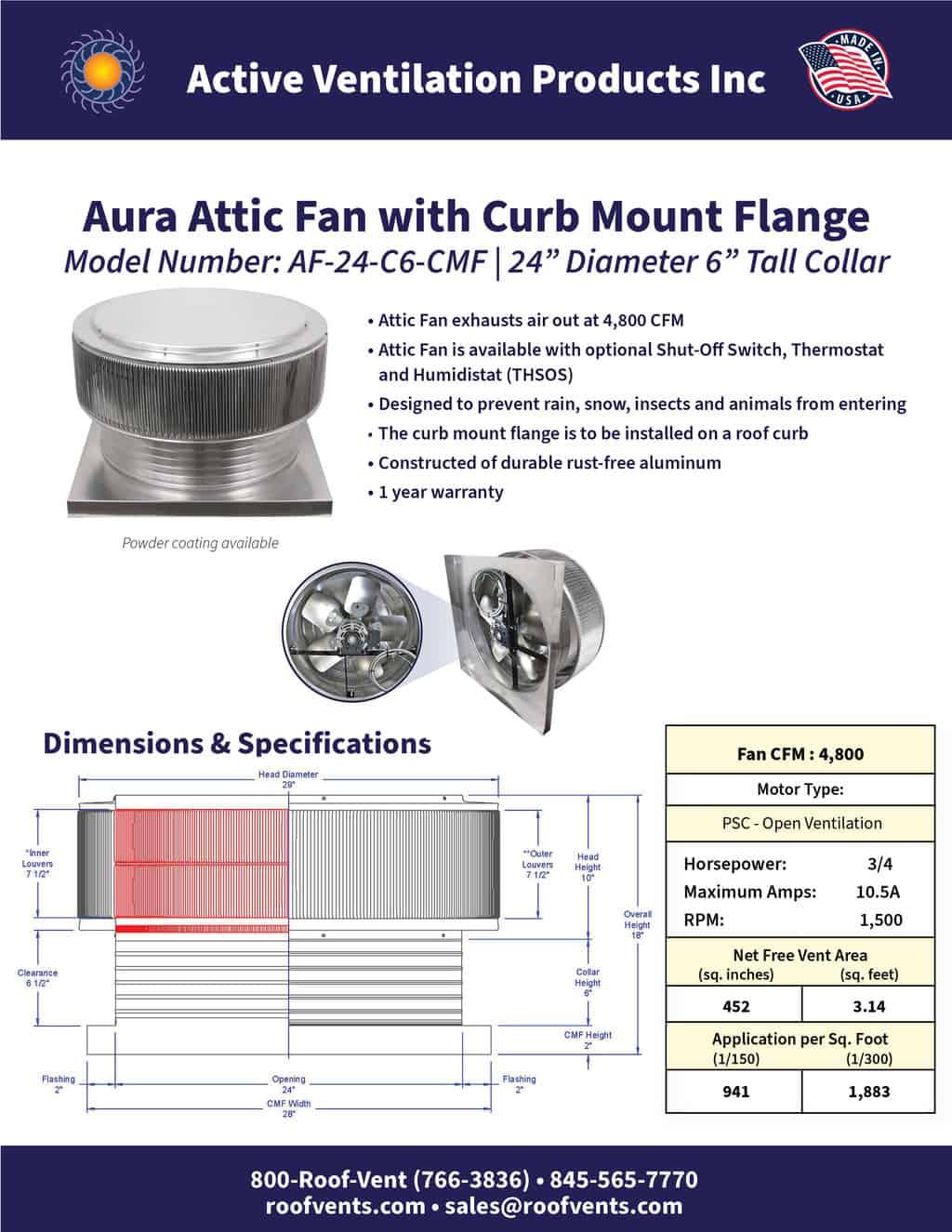 AF-24-C6-CMF-brochure An Exhaust Attic Fan