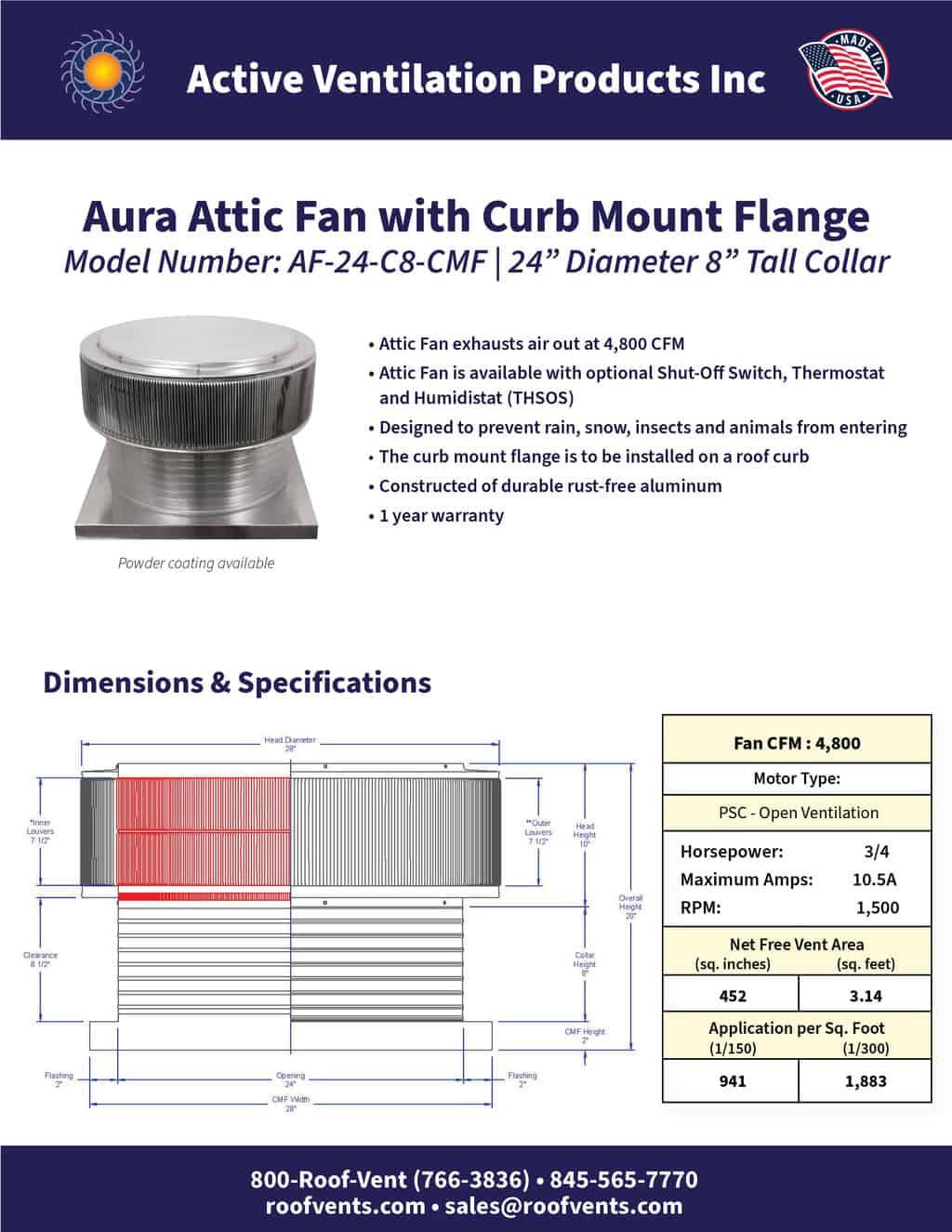 AF-24-C8-CMF-brochure An Exhaust Attic Fan