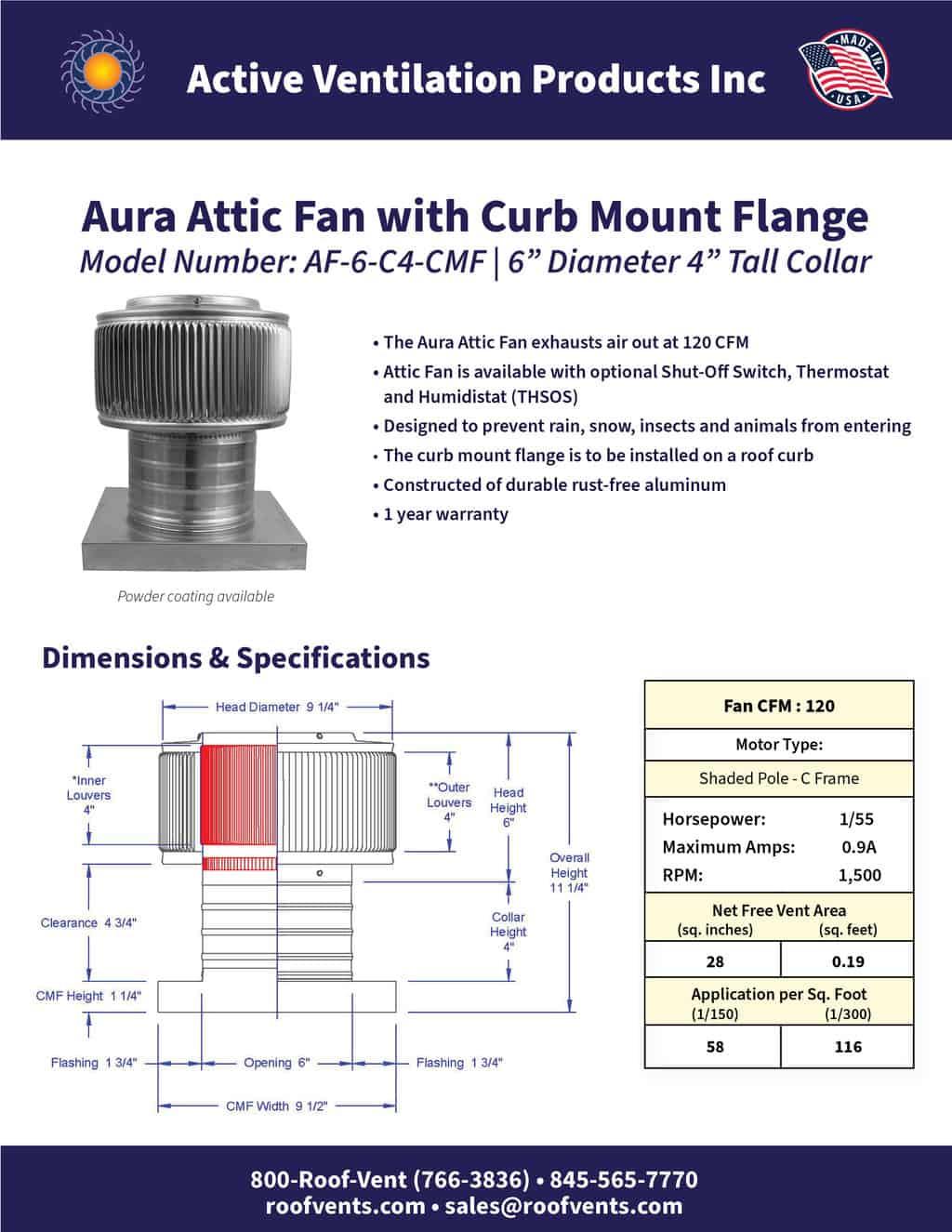 AF-6-C4-CMF-brochure An Exhaust Attic Fan