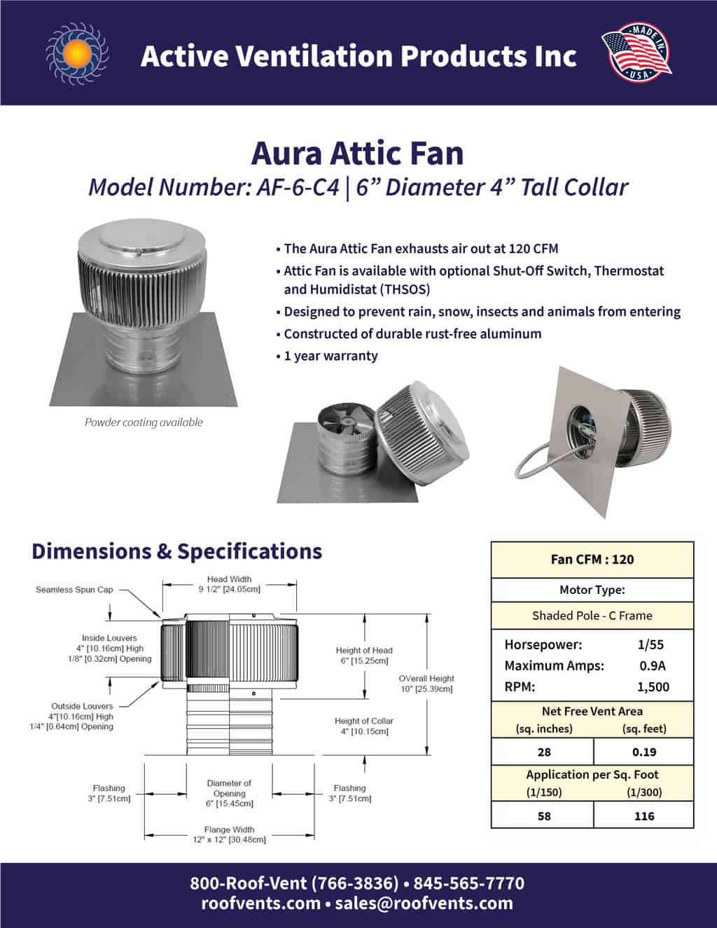 AF-6-C4-brochure An Exhaust Attic Fan