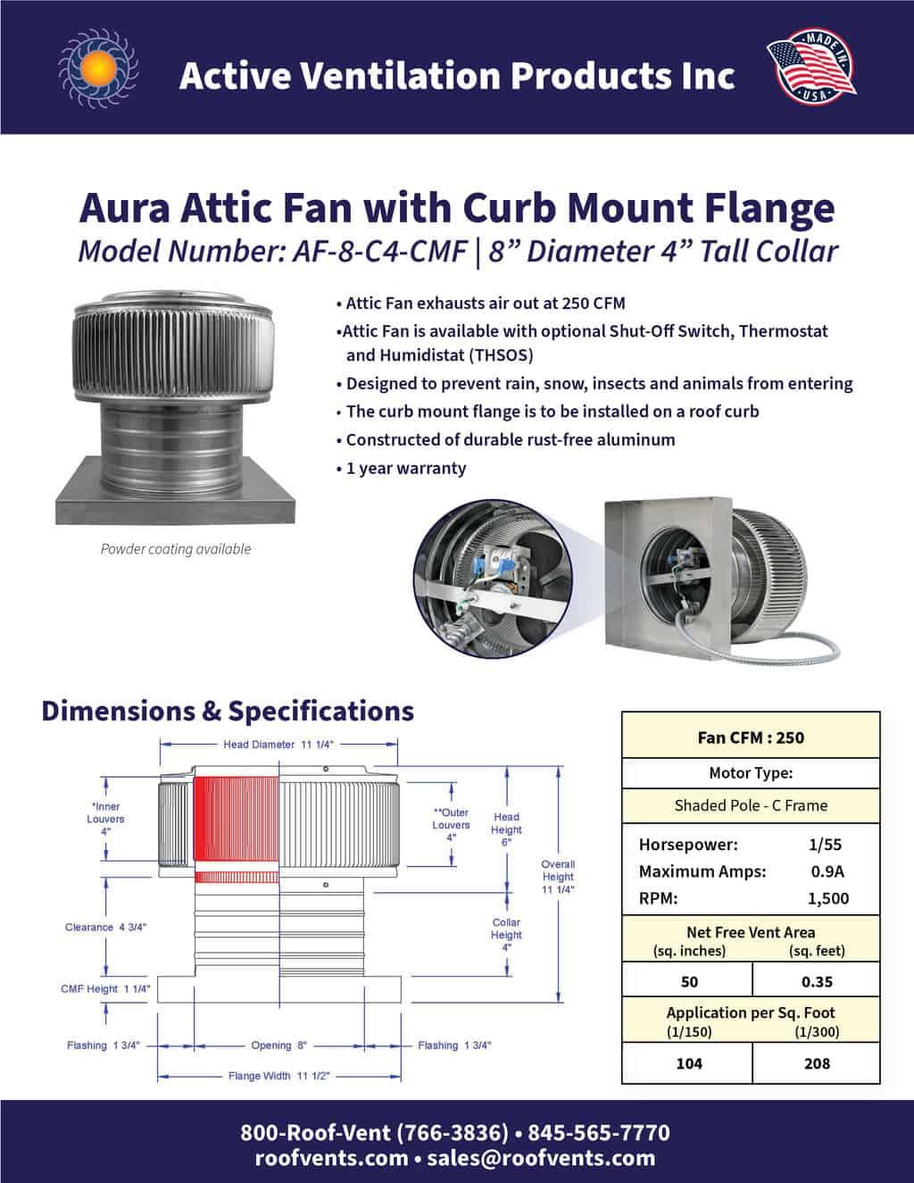 AF-8-C4-CMF-brochure An Exhaust Attic Fan