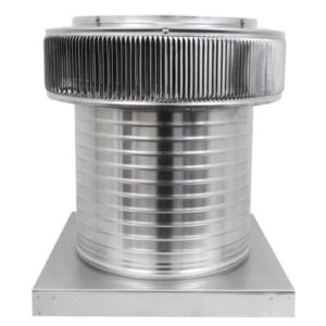 Gravity Ventilator - Aura Vent with Curb Mount Flange AV-14-C12-CMF-front
