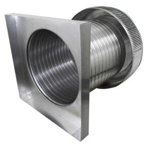 Gravity Ventilator - Aura Vent with Curb Mount Flange AV-14-C12-CMF-side view