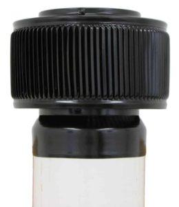 PVC Aura Vent Cap AV-6-PVC-black-installed-side