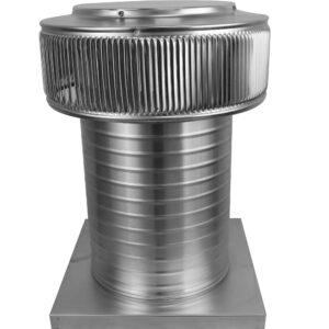 Gravity Ventilator - Aura Vent with Curb Mount Flange AV-10-C12-CMF-angle