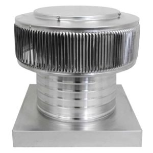 Gravity Ventilator - Aura Vent with Curb Mount Flange AV-10-C6-CMF-angle