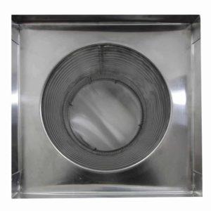 Gravity Ventilator - Aura Vent with Curb Mount Flange AV-12-C12-CMF-bottom