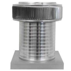 Gravity Ventilator - Aura Vent with Curb Mount Flange AV-12-C12-CMF-front