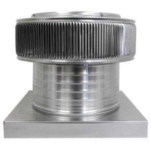 Gravity Ventilator - Aura Vent with Curb Mount Flange AV-12-C6-CMF-front