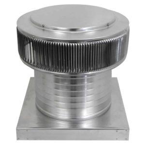 Gravity Ventilator - Aura Vent with Curb Mount Flange AV-12-C8-CMF-angle