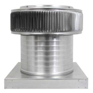 Gravity Ventilator - Aura Vent with Curb Mount Flange AV-12-C8-CMF-front