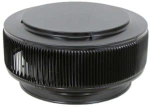PVC Aura Vent Cap AV-12-PVC-black-angle