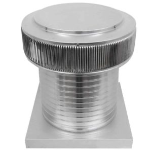 Gravity Ventilator - Aura Vent with Curb Mount Flange AV-14-C12-CMF-angle