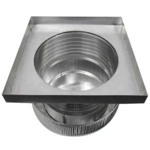Gravity Ventilator - Aura Vent with Curb Mount Flange AV-14-C6-CMF-bottom