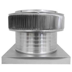 Gravity Ventilator - Aura Vent with Curb Mount Flange AV-14-C6-CMF-front