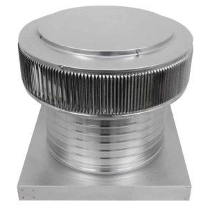 Gravity Ventilator - Aura Vent with Curb Mount Flange AV-14-C8-CMF-angle