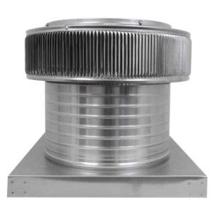 Gravity Ventilator - Aura Vent with Curb Mount Flange AV-14-C8-CMF-front