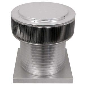 Gravity Ventilator - Aura Vent with Curb Mount Flange AV-16-C12-CMF-angle