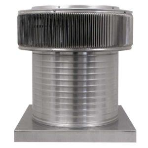 Gravity Ventilator - Aura Vent with Curb Mount Flange AV-16-C12-CMF-front