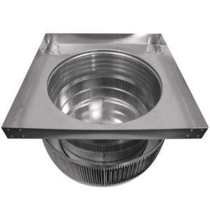 Gravity Ventilator - Aura Vent with Curb Mount Flange AV-16-C4-CMF-inside louvers