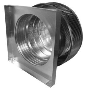 Gravity Ventilator - Aura Vent with Curb Mount Flange AV-16-C4-CMF-inside view