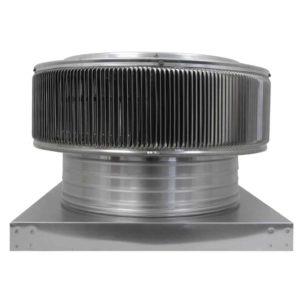 Gravity Ventilator - Aura Vent with Curb Mount Flange AV-16-C4-CMF-side view