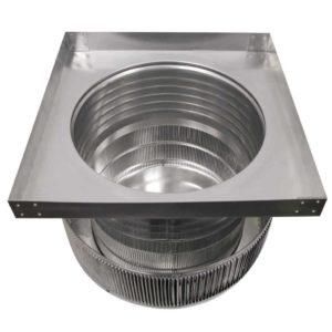 Gravity Ventilator - Aura Vent with Curb Mount Flange AV-16-C6-CMF- inner louvers