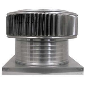 Gravity Ventilator - Aura Vent with Curb Mount Flange AV-16-C6-CMF-front view