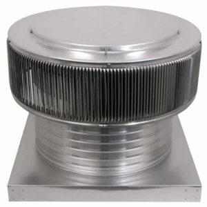 Gravity Ventilator - Aura Vent with Curb Mount Flange AV-16-C6-CMF-front